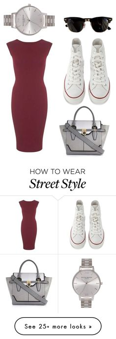 street style 3 by athinakpebor on Polyvore featuring Converse, Miss Selfridge, River Island, Olivia Burton and Ray-Ban