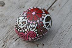 JOY & BLISS Inspiration Rock Meditation by BeachMemoriesByJools, painted stone