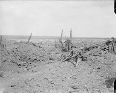 3-6 September 1916. Battle of Guillemont. Pictured, the site of the main road of…