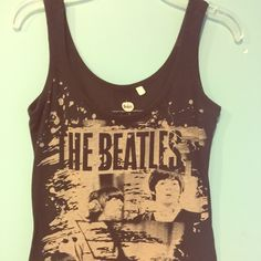 Beatles tank top!!! Beatles tank top, size small, adorable!!! Like new, no trades Tops Tank Tops