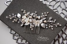 Hair Comb Wedding, Wedding Hair Pieces, Bridal Accessories, Bridal Jewelry, Unique Jewelry, Bridal Hairpiece, Butterfly Wedding, Wedding Hairstyles, Etsy Shop