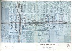 Junipero Serra Freeway, Los Gatos Freeway to San Jose-Los Gatos Road (1959) by Eric Fischer, via Flickr