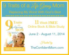 Motherhood is hard - no doubt about it - come join us in an 11 week study that will surely freshen your spirit as a mom, touch your heart and nurture you where you are!  Author Sue Detweiler will join us - what a treasure!