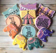 Cookies | Carnival | Circus | Elephant | Tent | Monogram