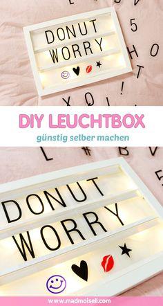 DIY Lightbox selber bauen: Günstiger IKEA DIY Hack ✨ Diese Lightbox ist schnell und günstig selbst gemacht und sieht als DIY Deko einfach nur toll aus - ob im Schlafzimmer oder Wohnzimmer, die selbstgemachte Lightbox macht sich einfach überall super. Klicke hier für das komplette DIY Tutorial.