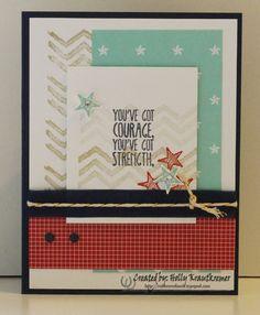Greeting Card Patriotic Handmade You've Got by Rubberredneck, $5.95