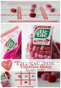 Tic Tac Toe Printable Valentine's My Funny Valentine, Tic Tac Valentine, Cute Valentines Day Ideas, Valentines Games, Homemade Valentines, Valentines Day Hearts, Valentine Day Love, Valentine Day Crafts, Printable Valentine