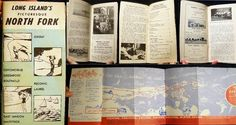1957 Long Island North Fork Promotional Vacation Guide with Map History | eBay