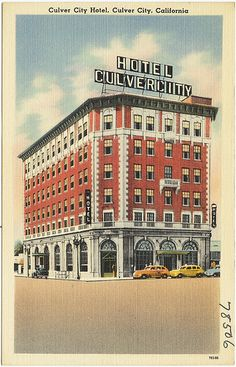 Culver City Hotel, Culver City, California postcard