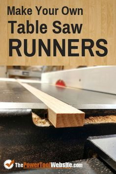 Beginner woodworking tips - how to make table saw runners. Making a good table saw sled requires miter slot runners that fit snug and slide smoothly. Here's how you can do this for your crosscut sleds and table saw jigs. jigs table saw Table Saw Runners