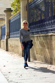 Jeans LTB, marinière1-2-3, lunettes Chanel