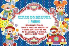 Convite digital personalizado Circo 005