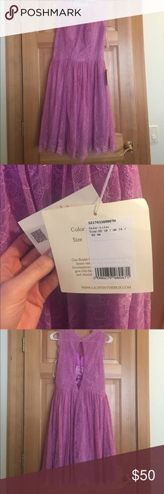 LanTing Bridesmaid Dress The color says it\'s Lilac, but it is more of a pink than a purple. Ordered for a bridesmaid dress but it was the wrong color for the wedding! Never been worn, still has the tags, and is in excellent condition. LanTing Bride Dresses