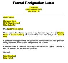 Get Best Resignation Letter Sample with Rreason | Every Last Template | Free Download Employee Resignation Letter, Professional Resignation Letter, Resignation Letter Format, Resignation Template, Formal Resignation Letter Sample, Job Cover Letter, Writing A Cover Letter, Letter Of Employment, Job Interview Tips