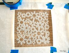 Use a stencil to screen print with! Ingenious.