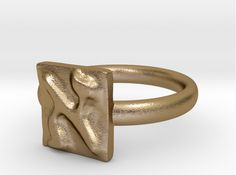 Check out 01 Alef Ring by GabrieleLEVY on Shapeways and discover more 3D printed products in Rings.