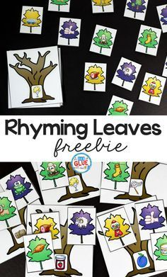 Rhyming Leaves Match-Up Freebie is a quick, hands-on activity to get your students learning and having fun! This free printable is perfect for pre-k, kindergarten, and first grade students. Rhyming Kindergarten, Rhyming Activities, Kindergarten Centers, Preschool Literacy, Early Literacy, Kindergarten Reading, Autumn Activities, Hands On Activities, Kindergarten Freebies