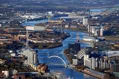 River Clyde, Glasgow from the Air by Vic Sharp, via Flickr