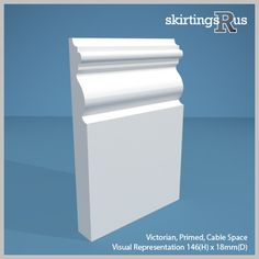 Buy Victorian MDF Skirting Board - This design references the architecture of the era with its elaborate period detailing. Crafted from high density MDF for superior quality. Torus Skirting Board, Mdf Skirting, Skirting Boards, Victorian Skirting Board, Georgian Interiors, Simple Borders, Mould Design, Architrave, Easy Paintings