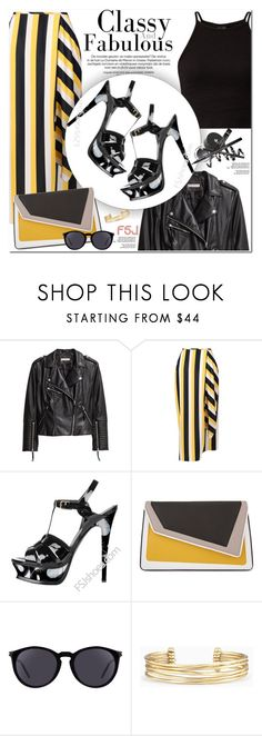 """FSJshoes"" by oshint ❤ liked on Polyvore featuring H&M, STELLA McCARTNEY, âme moi, Yves Saint Laurent, Stella & Dot, shoes and fsjshoes"