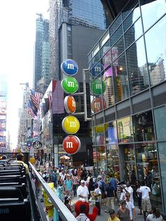 M & M store...my favorite store to go to when visiting NYC!