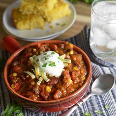 Crock-Pot Vegetable Chili Recipe on Yummly