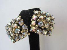 Vintage Aurora Borealis Rhinestone Clip by VintagObsessions, $12.00