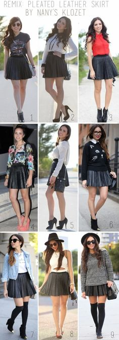 Remix: pleated leather skirt...*updated*