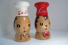Vintage Wood Chef Salt and Pepper Shakers by ThisandThatCapeCod, $14.50
