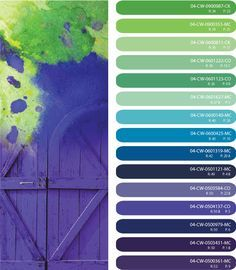 Bright Purple Blue And Green Color Scheme By CSI World