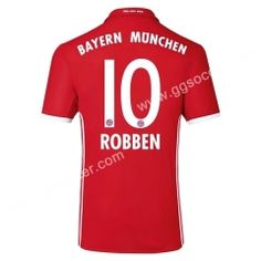 7a2a2837f 2016 17 Bayern München ROBBEN Home Red Thailand Soccer Jersey