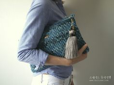 Crochet clutch#bag#clutch#tassel