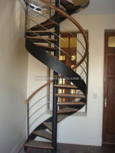 spiral staircase with circular tape for interior and exterior