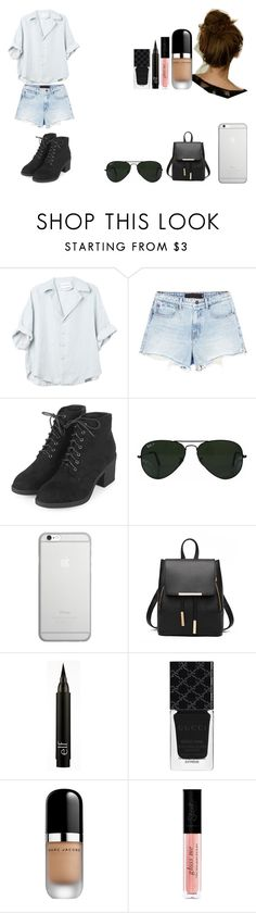 """Untitled #524"" by kalieh092 on Polyvore featuring Alexander Wang, Topshop, Ray-Ban, Native Union, Gucci and Marc Jacobs"