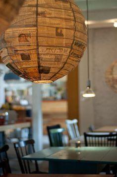 newsprint paper lantern