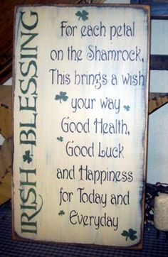 IRISH BLESSING PRIMITIVE SIGN SIGNS