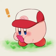 Kirby playing Pokemon Go. I don't play Pokémon Go by the way, I just love this!