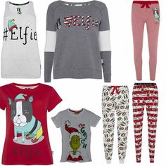 Primark Ladies Women licensed THE GRINCH #elfie Christmas Xmas t shirt pyjamas