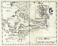 Resens kort over Møn. Bogø har lige fået lov til at komme med. LASA. Lokalhistoriske Arkiver i Sydøstdanmark. http://aabne-samlinger.dk/lasa_ny/temasider/renaessancens-byer/moen/
