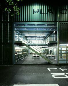 Platoon Kunsthalle / Platoon + Graft Architects #shippingcontainers