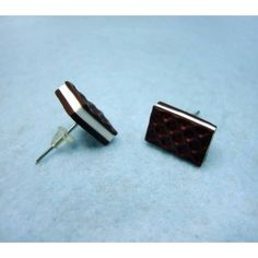 Chocolate Cubanito,fimo, handmade,hecho a mano,polymer clay,earrings,pendientes,cake,cookie,
