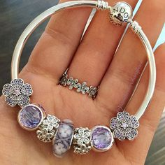 #pandora #pandoraopm #bracelet #braceletevent #freebracelet #pandorabracelet #pandoracharm #purple #flowers #springcollection #like4like