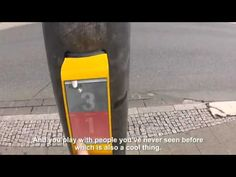 A pong traffic light in Germany