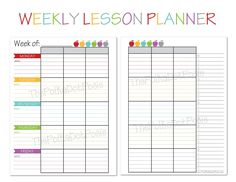 Free Printable Weekly Lesson Plan Template Ms Greene My Own - Free weekly lesson plan template