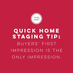 Home Staging Tip: Buyer's First Impression is the Only Impression || Staged4more Home Staging & Design