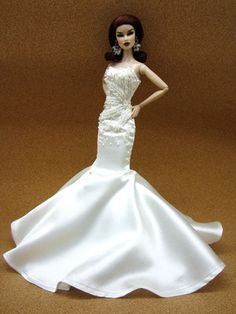 Wedding Bride Evening Dress Outfit Gown Silkstone Barbie Fashion Royalty Candi