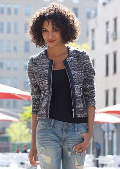 Tweed Jacket - View All Outerwear/Jackets - Outerwear/Jackets - Clothing - Alloy Apparel