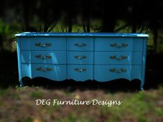 Vintage French Provincial 9 Drawers Dresser. by DEGFURNITUREDESIGNS on Etsy https://www.etsy.com/listing/275386304/vintage-french-provincial-9-drawers