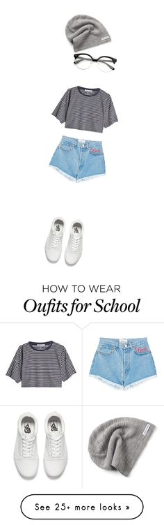 """too lazy"" by kaitlyn-ashby101 on Polyvore featuring Forte Couture, T By Alexander Wang, Vans and Converse"