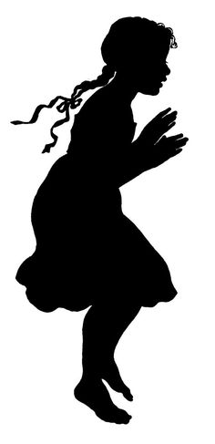 girl  silhouettes | Vector Images Stock Girl Silhouette